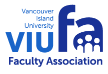 Vancouver Island University Faculty Association Retina Logo