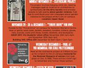 16 Days of Activism Schedule